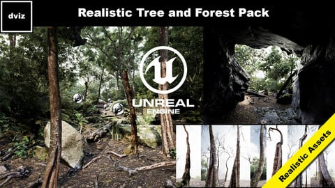Realistic Trees and Forest Plants Pack