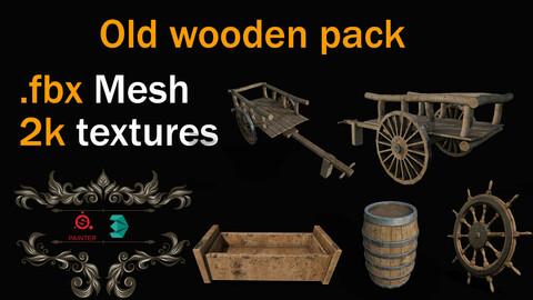 Wood Pack + Textures Cart+ Barrel + Groove + Rudder