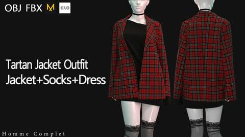 Women's Tartan Jacket Outfit