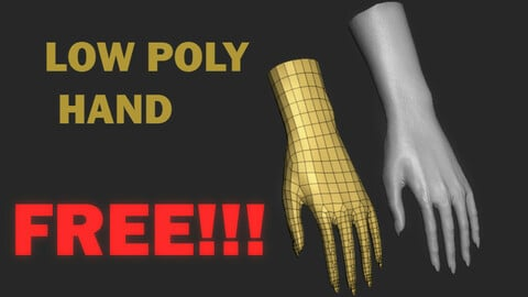 Lowpoly hand FREE