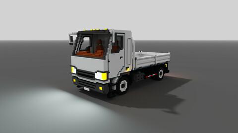 Voxel Flatbed Truck 3D model