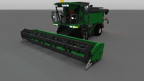 Voxel Combine-harvester 3D model