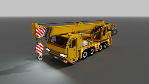 Voxel Truck crane 3D model