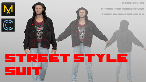 STREET STYLE SUIT/ MARVELOUS DESIGNER CLO3D PROJECT