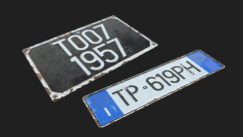 EU Licence Plate Substance Material