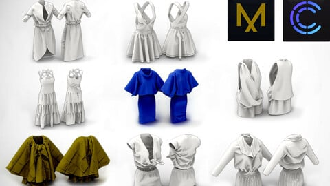 8 Summer Dresses MD / Clo3D