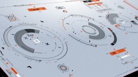 FUI / UI - Sci-fi Screen Graphics Circular Elements Set