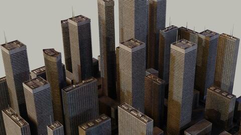 Futuristic Skyscrapers Blocks