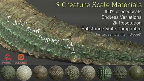 Creature Scales for Substance Painter