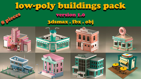 3D Low Poly City Pack