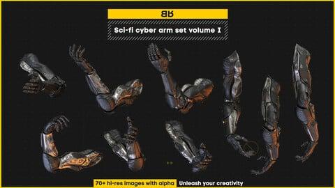 Sci-fi cyber arm set volume I