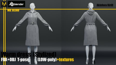 Warm dress LOW-poly