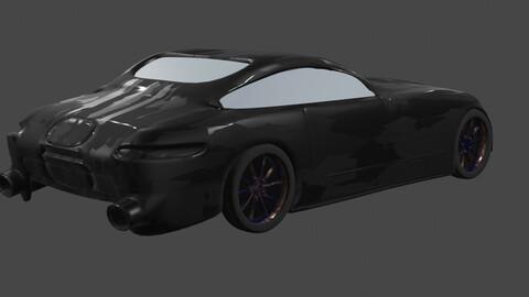 mercedes benz amg gt in black colour