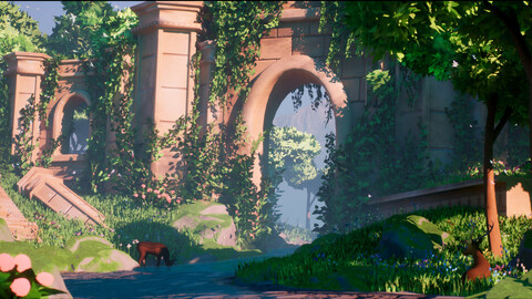 Overgrown Ruins Stylized Environment