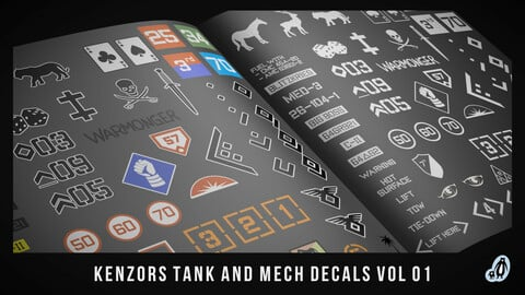 kenzors Tank And Mech Decals vol 1