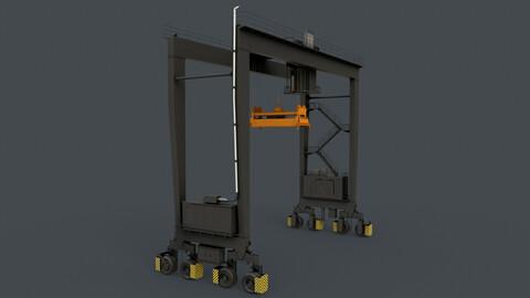 PBR Rubber Tyred Gantry Crane RTG V1 - Black