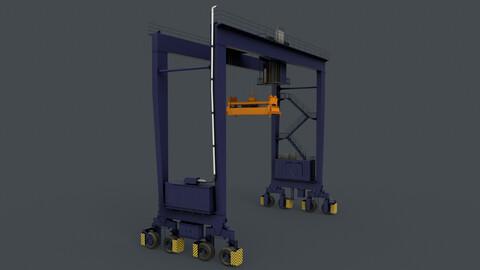 PBR Rubber Tyred Gantry Crane RTG V1 - Blue Dark