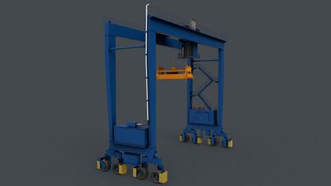 PBR Rubber Tyred Gantry Crane RTG V1 - Blue