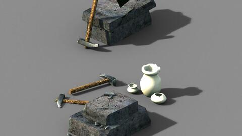 Axe-hammer-iron table 03