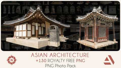 PNG Photo Pack: Asian Architecture