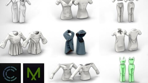 8 Dress Collection for MD / Clo3D