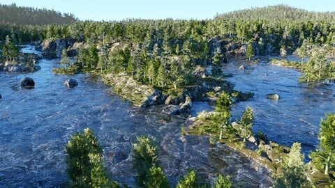 River branches in Blender