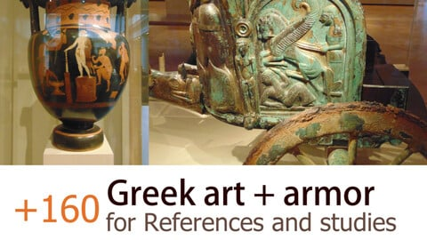 +160 Greek Art Pack For References and Studies