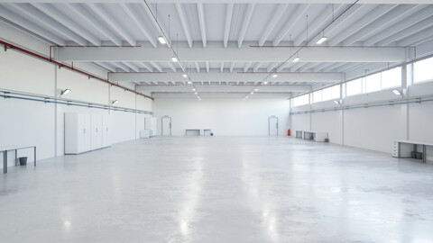 Industrial Hangar Hall Interior 6b