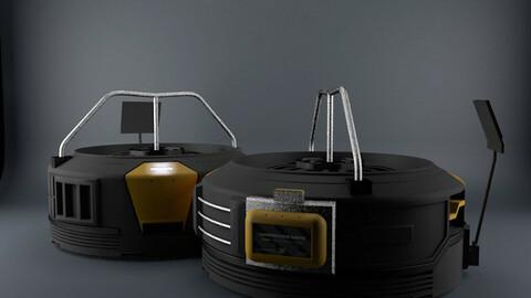 3D concept fan - Low poly Low-poly 3D model