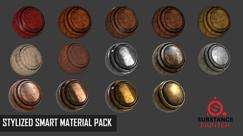 STYLIZED SMART MATERIAL PACK - STYLE HAND PAINTED - 14