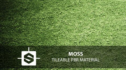 Moss PBR Tileable Material
