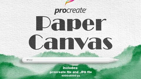 Procreate Paper Canvas
