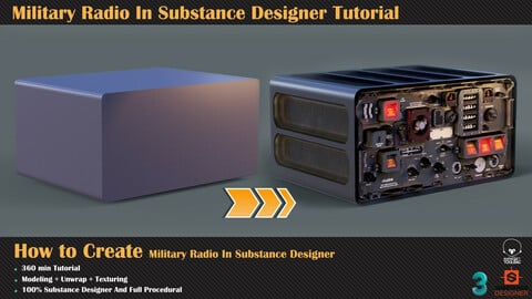 Military Radio In Substance Designer Tutorial