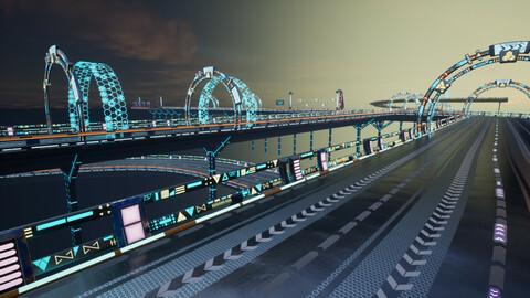 Modular Sci-fi Road