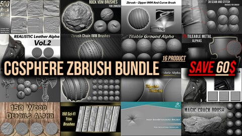 CGSphere Zbrush Bundle ( 16 Product )
