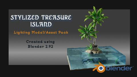 Stylized Treasure Island