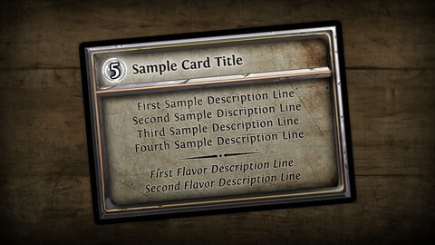 Stone Horizontal Fantasy Card Template