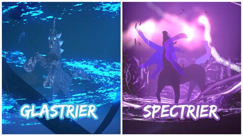 Pokemon Glastrier and Spectrier fan art pack models.