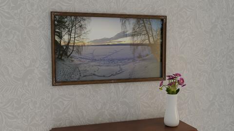 Picture Frame Lake Turgoyak Winter