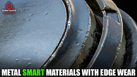 Metal Smart Materials with Edge Wear (Substance Painter)