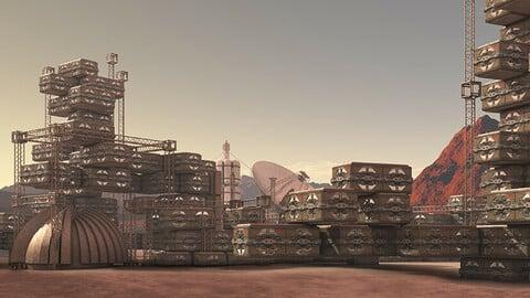 Mars Colony - Illustration Pack