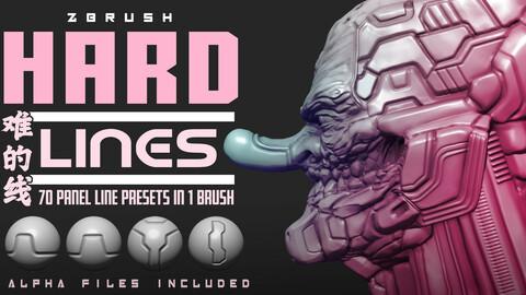 Hard Lines : ZBrush Panel Line presets