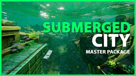 WaterWorld - Submerged City Full Asset Package - Unity & UE4