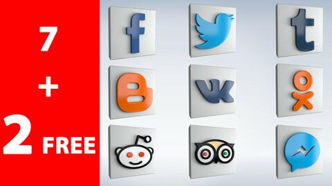 Social Icons set 1