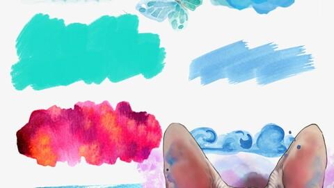 Redsssatan - Watercolour Masterpiece.2 updated for Procreate