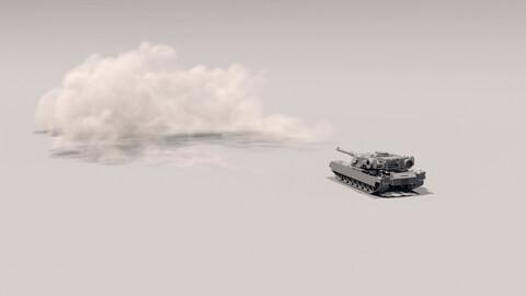 Houdini Tank Firing VFX