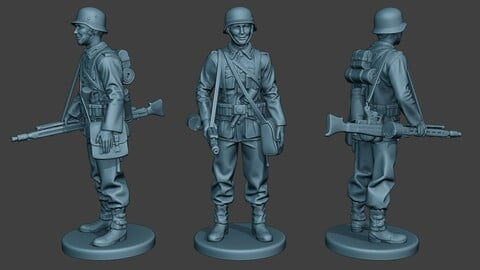 German soldier ww2 MG42 Stand G7
