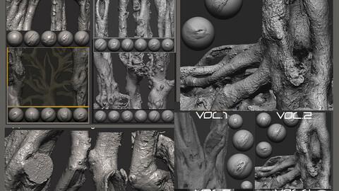 Z brush - Trunk Detail Brushes 8 Volumes