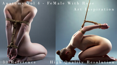 Anatomy Vol 4 -  FeMale With Rope - Art Inspiration