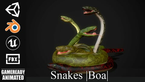 Snakes (Boa) - Game Ready